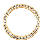 Ladies Gold Diamond Bezel